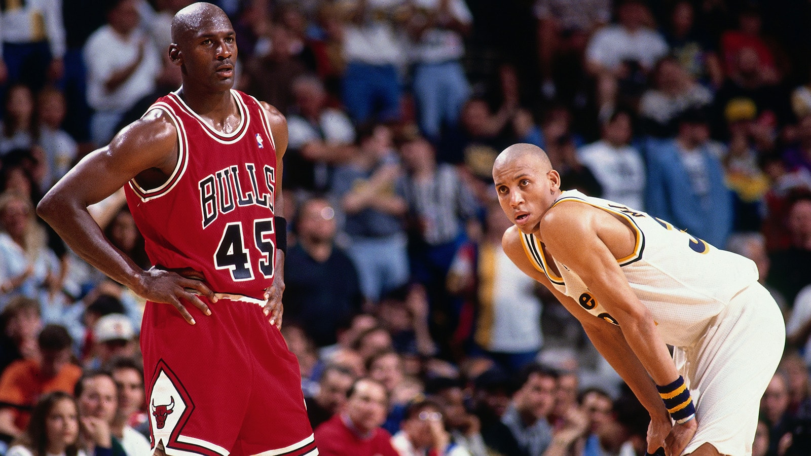 Michal Jordan and Reggie Miller