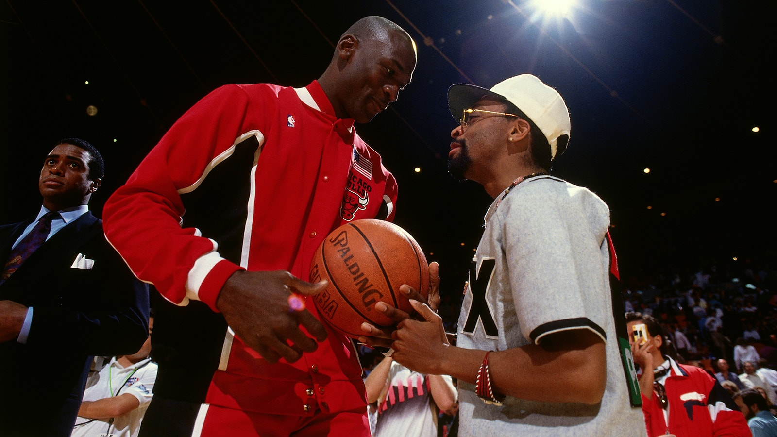 Michael Jordan and Spike Lee