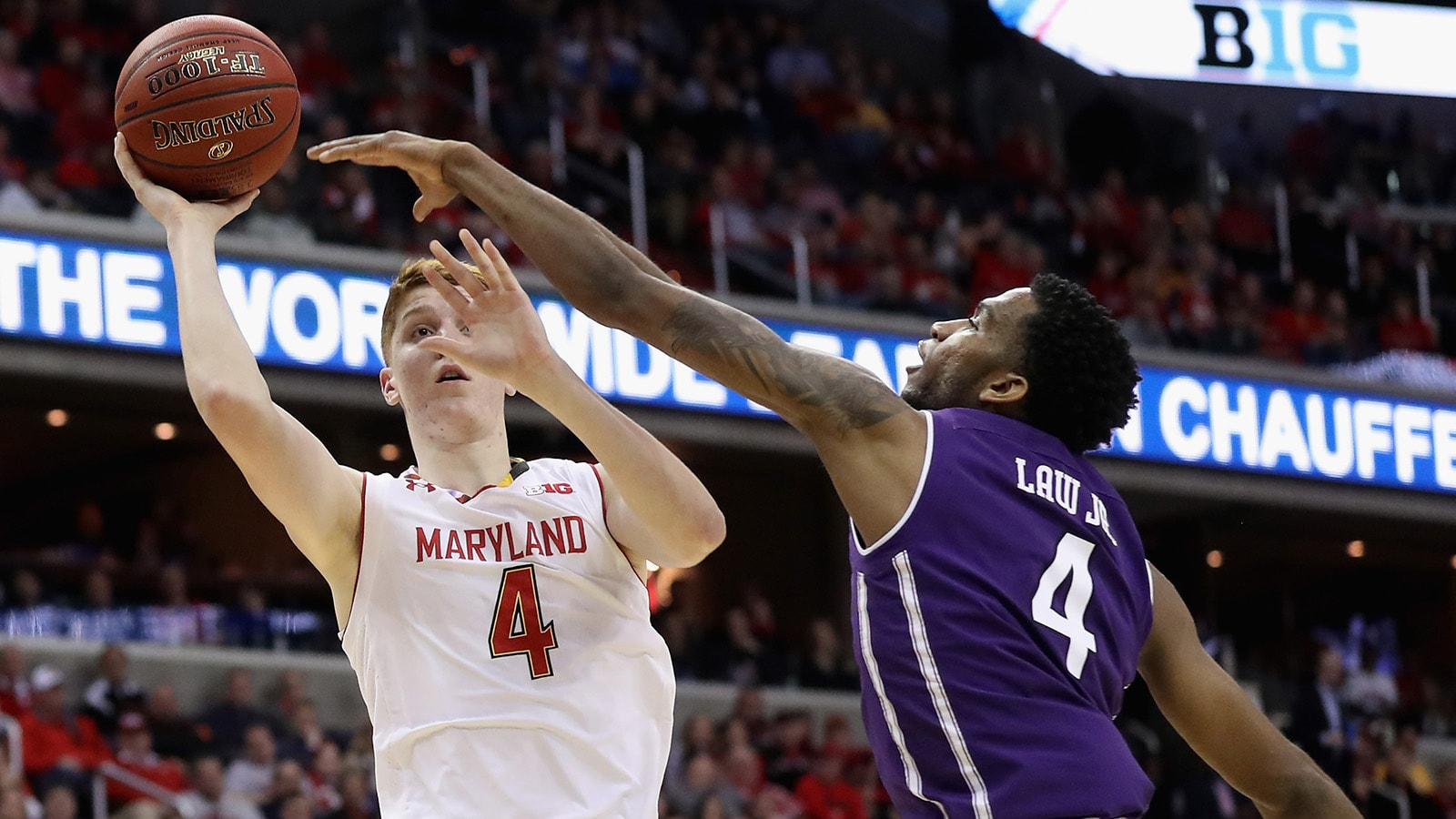 Kevin Huerter playing for Maryland