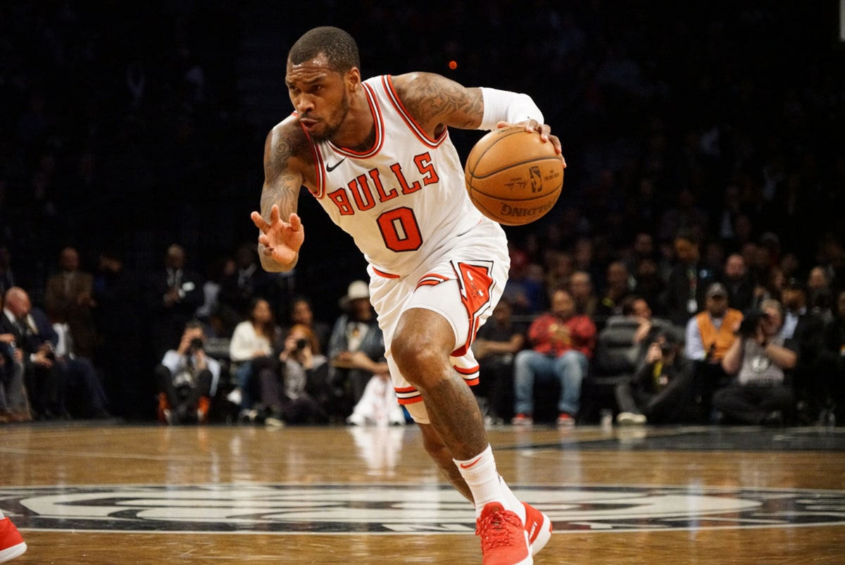Sean Kilpatrick of the Chicago Bulls drives with the ball