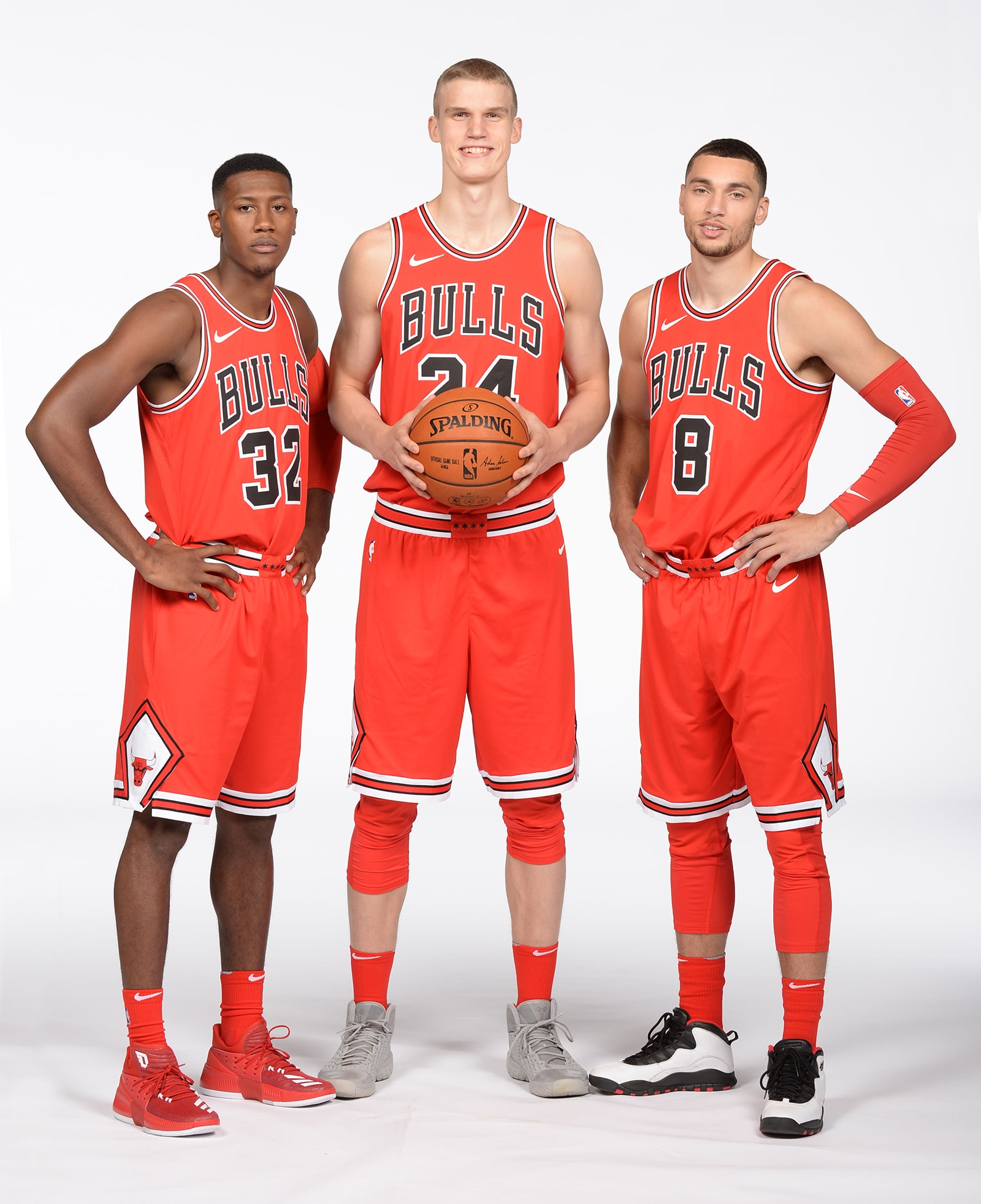 Zach Lavine, Lauri Markkanen & Kris Dunn Standing Together on Bulls Media Day