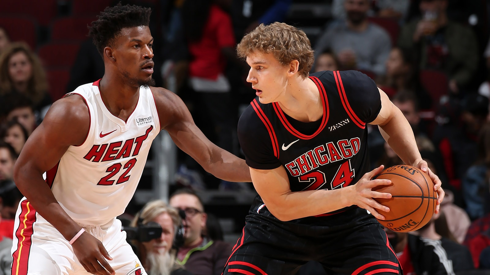 Lauri Markkanen against Jimmy Butler