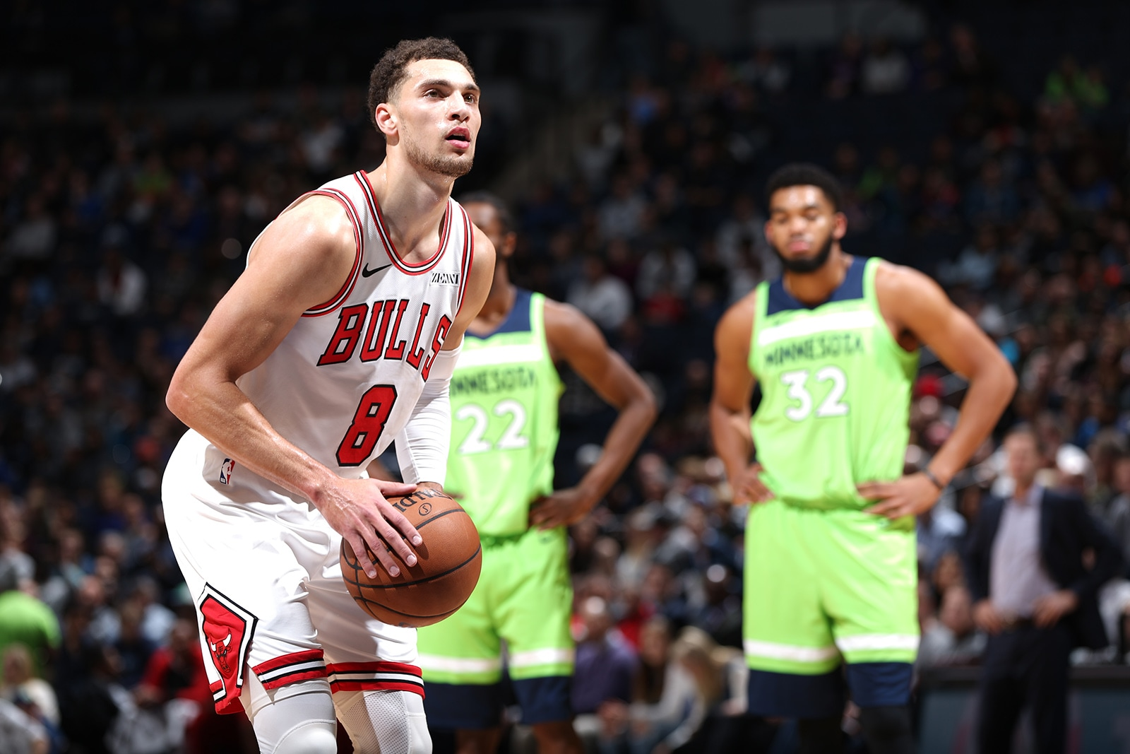 Zach LaVine of the Chicago Bulls