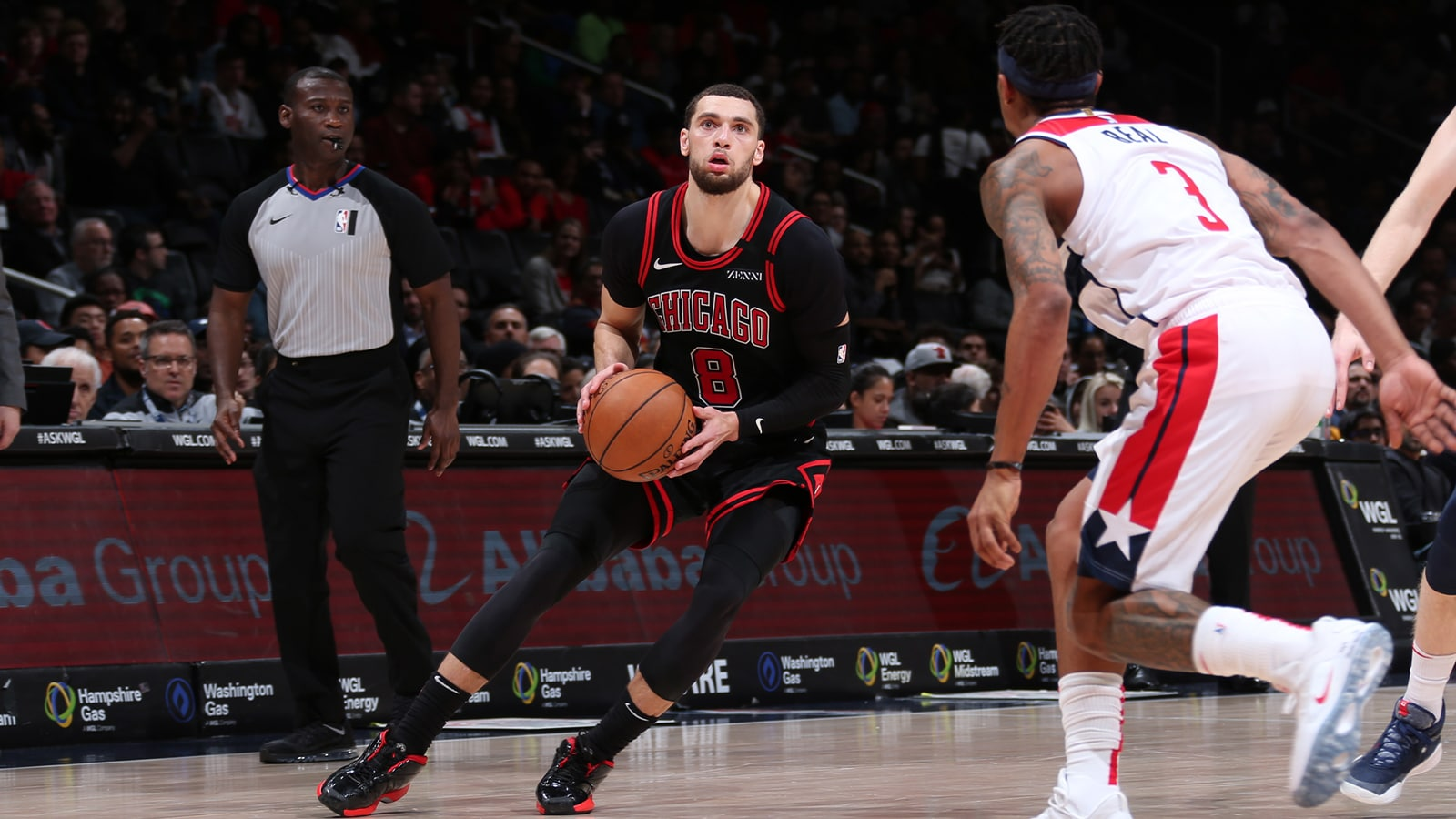 Zach LaVine stepping back for the jump shot