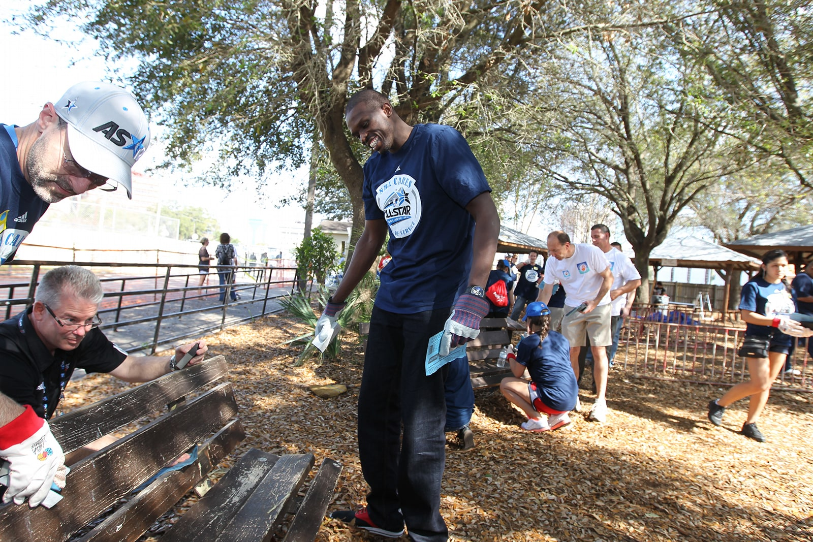 Luol Deng at an NBA Cares Event