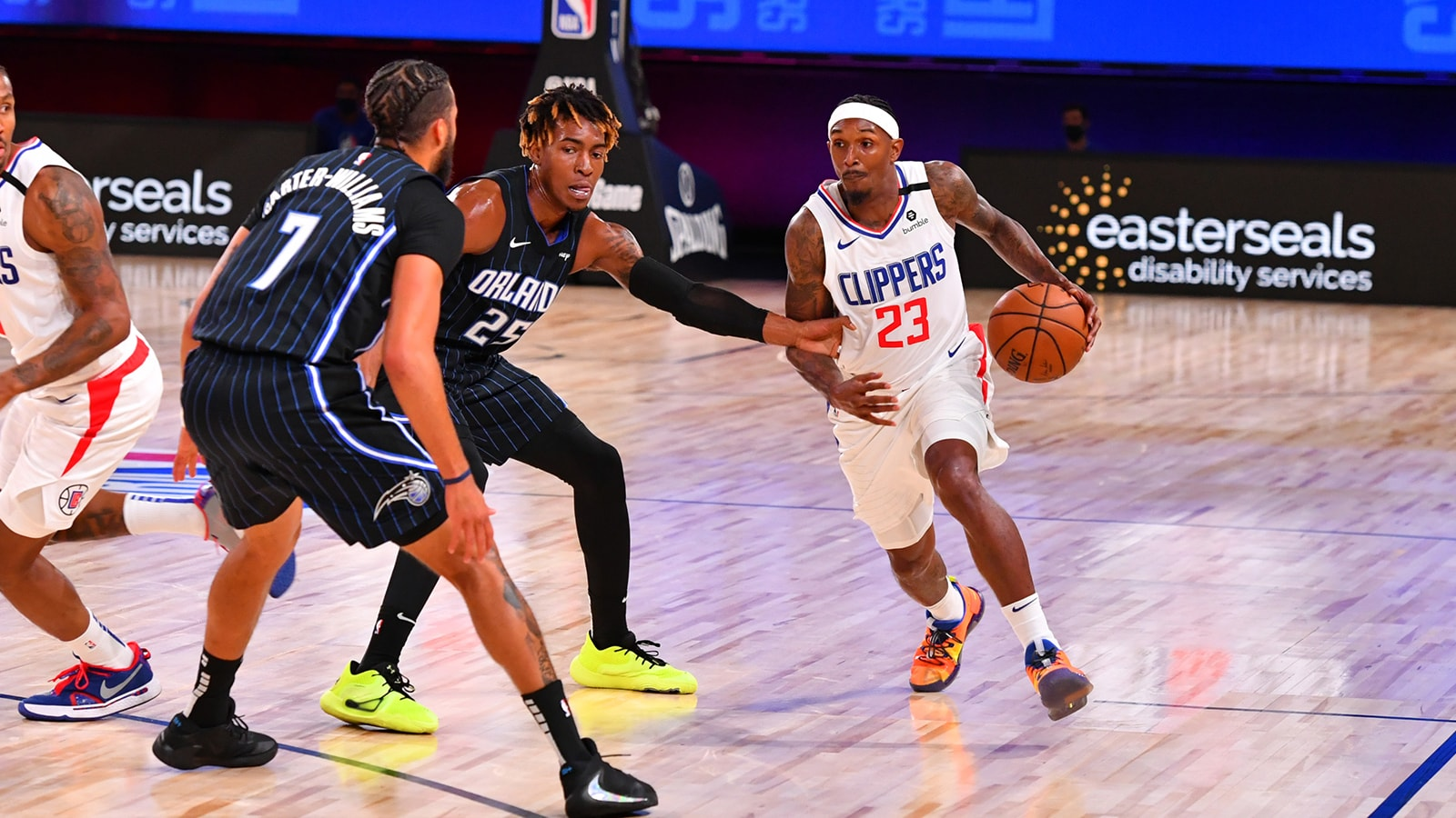 Lou Williams attacks on the dribble