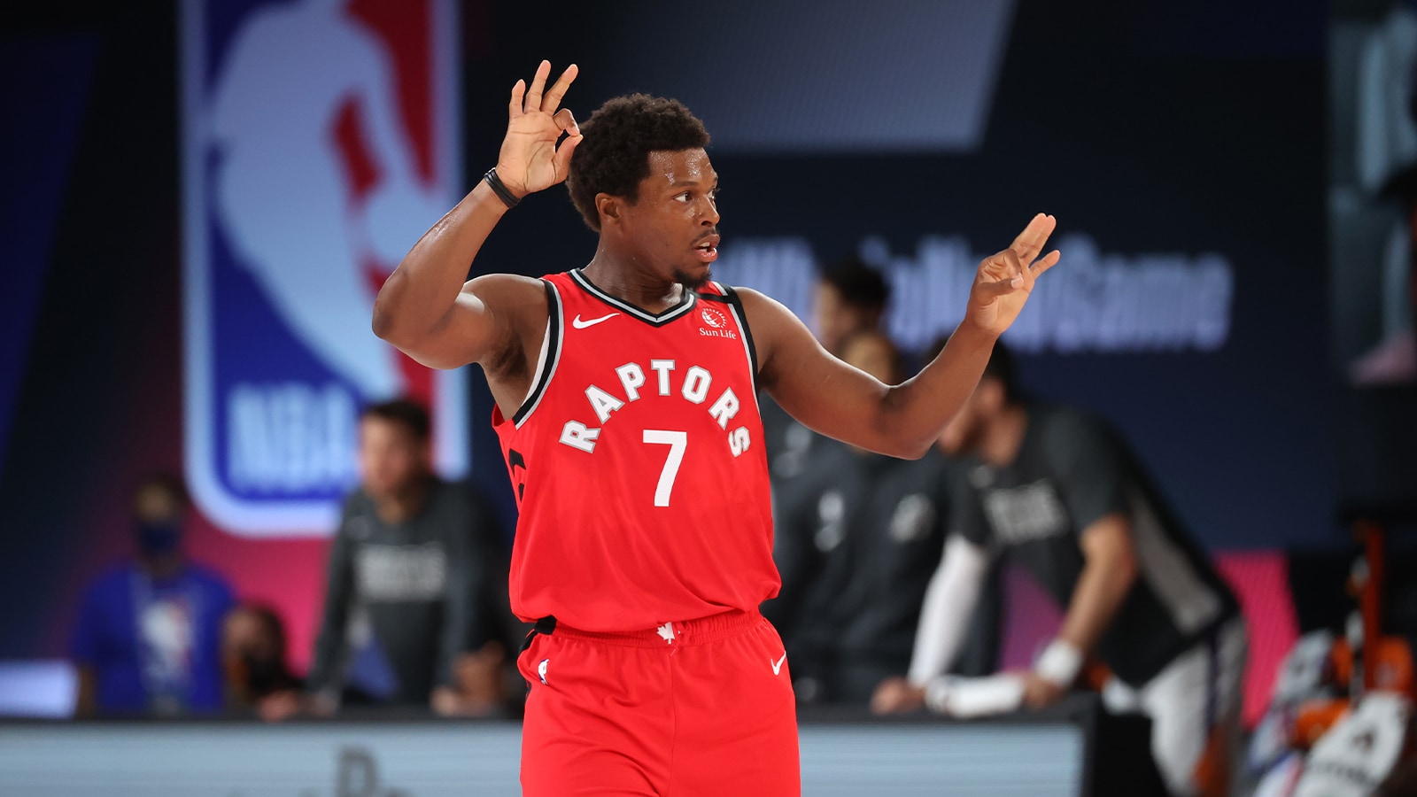 Defending Champion Kyle Lowry in action for the Raptors