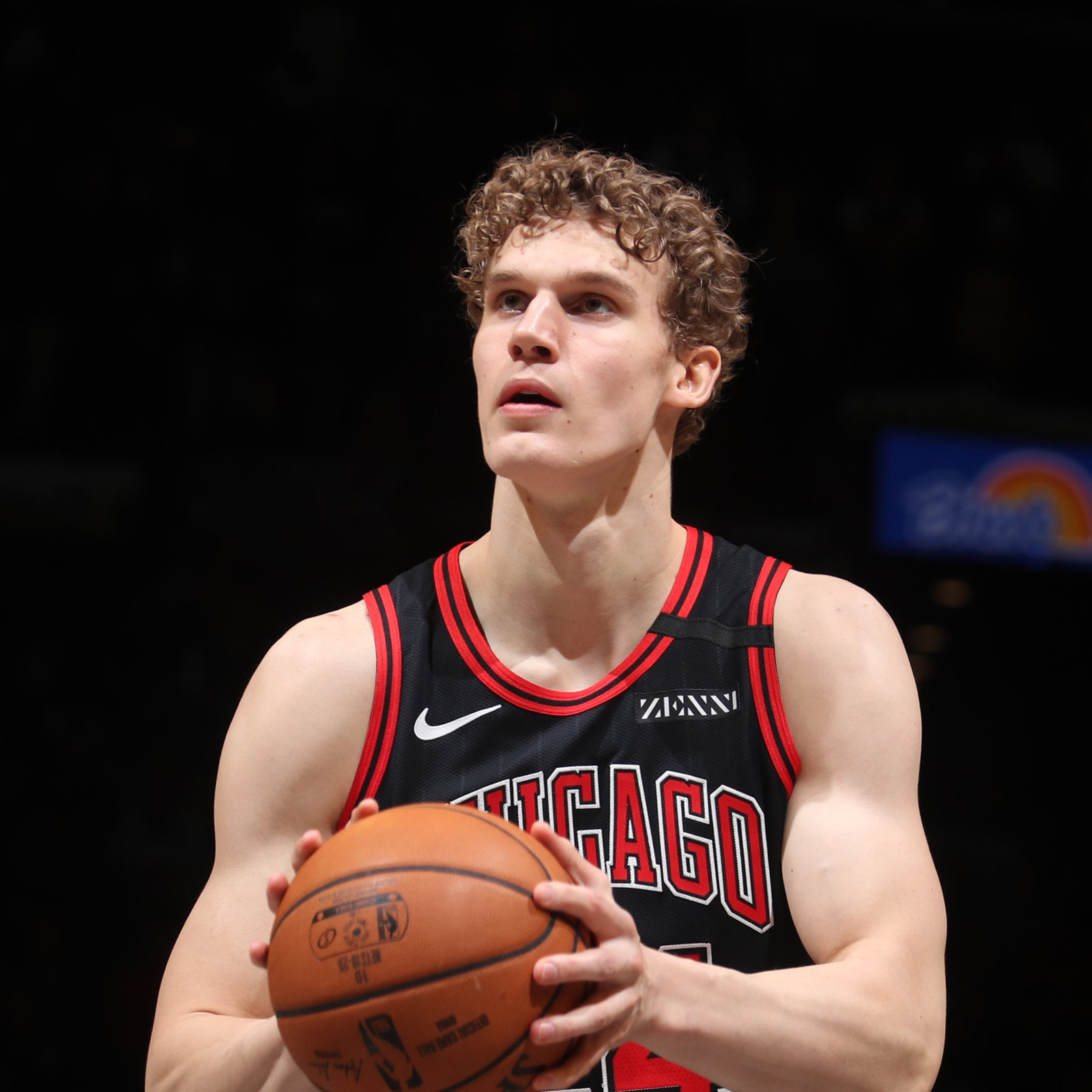 Lauri Markkanen #24 of the Chicago Bulls shoots a free throw against the Brooklyn Nets on March 8, 2020 at Barclays Center in Brooklyn, New York.