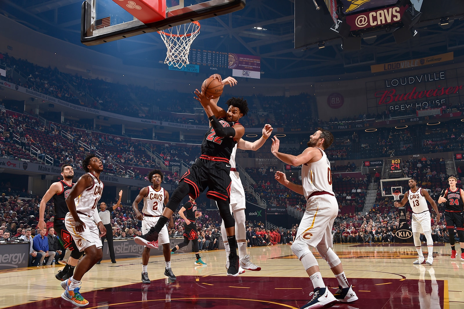 Otto Porter Jr. Fights for a Rebound