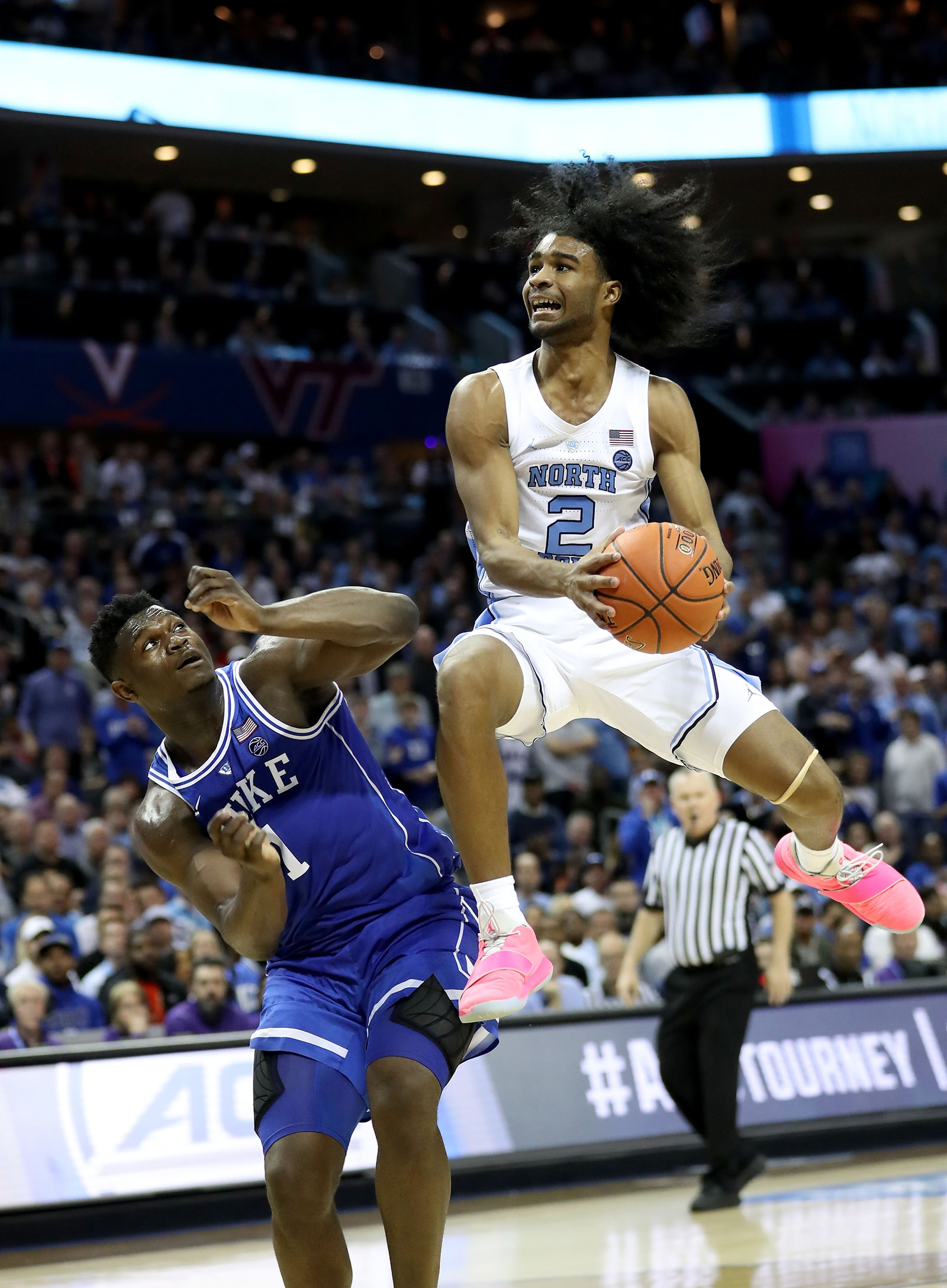 Coby and Zion playing in the NCAA