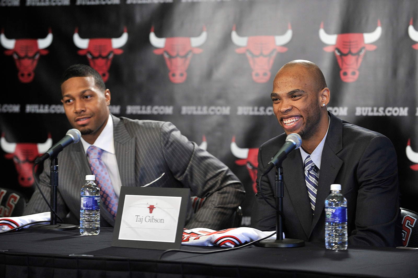 Taj Gibson talks to the media after being drafted by the Bulls