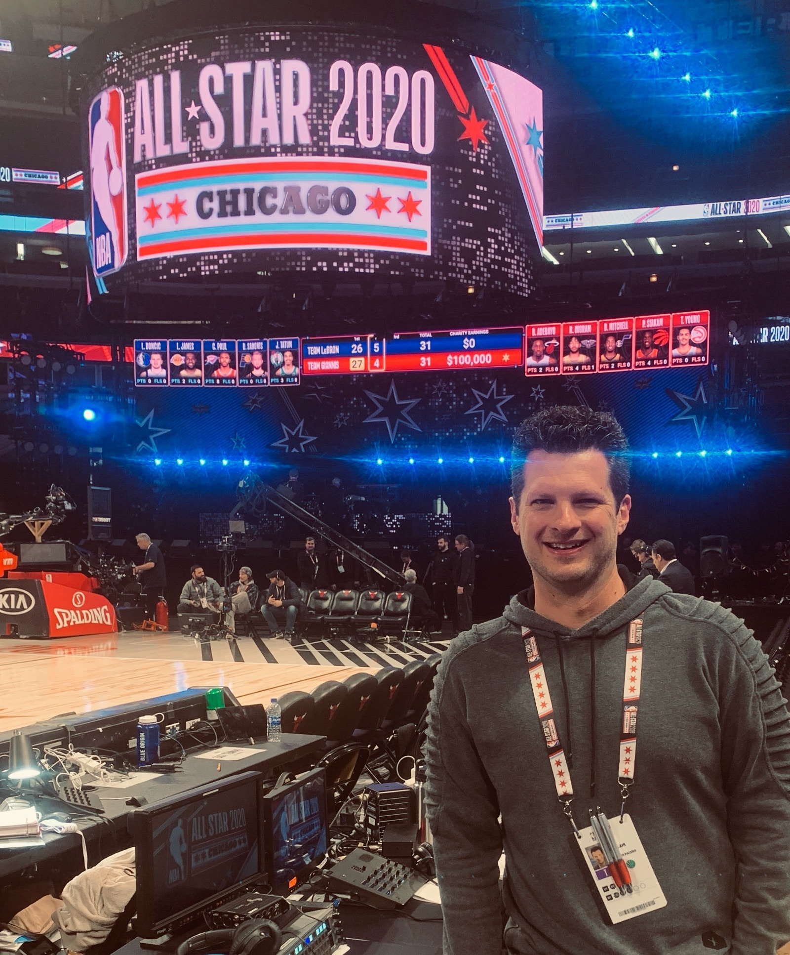 Sinclair at the 2020 NBA All-Star Game in Chicago