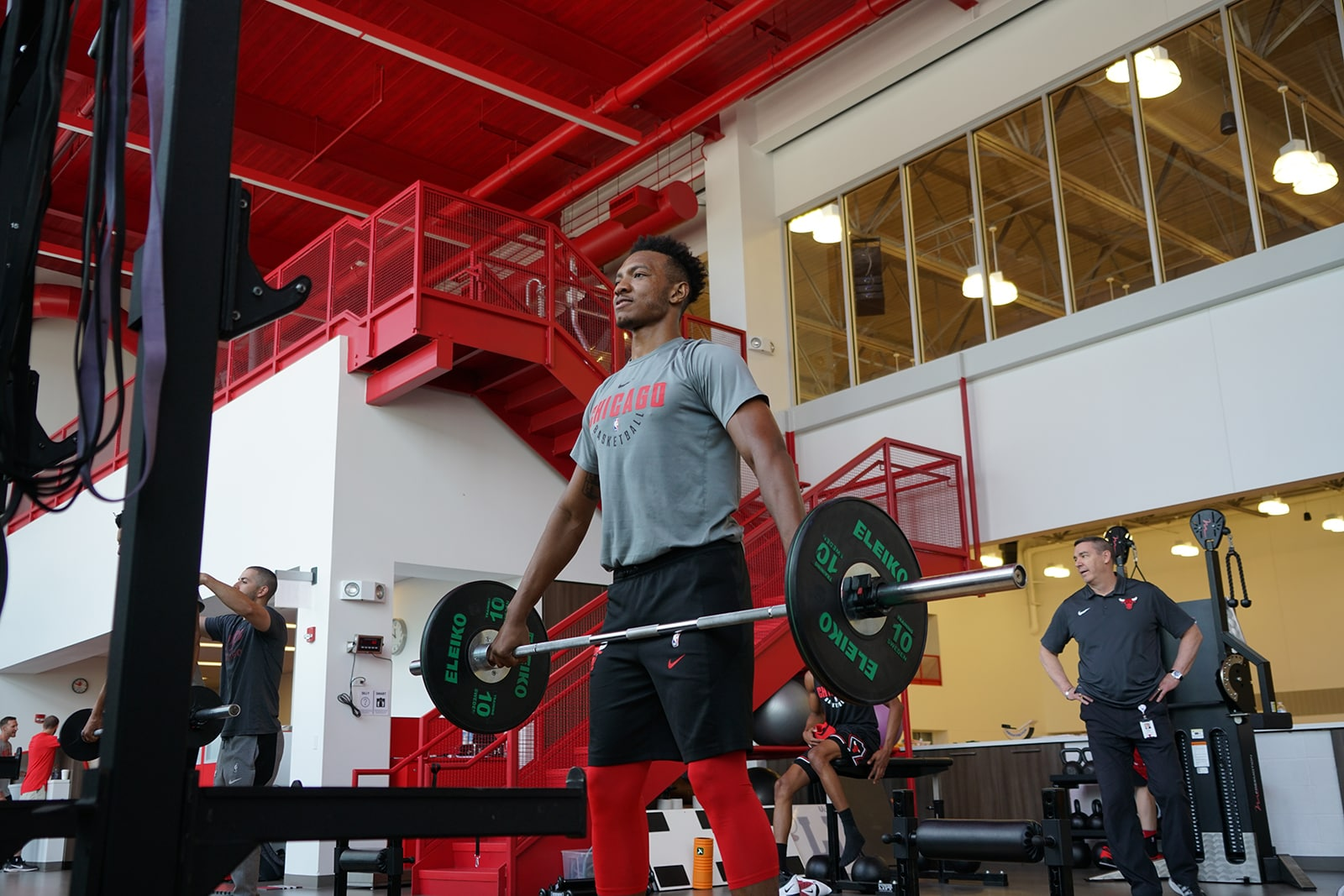 Wendell Carter Jr. working out