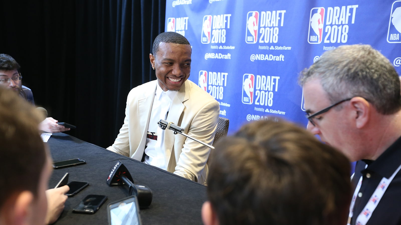 Wendell Carter Jr. talks to the media ahead of the 2018 NBA Draft