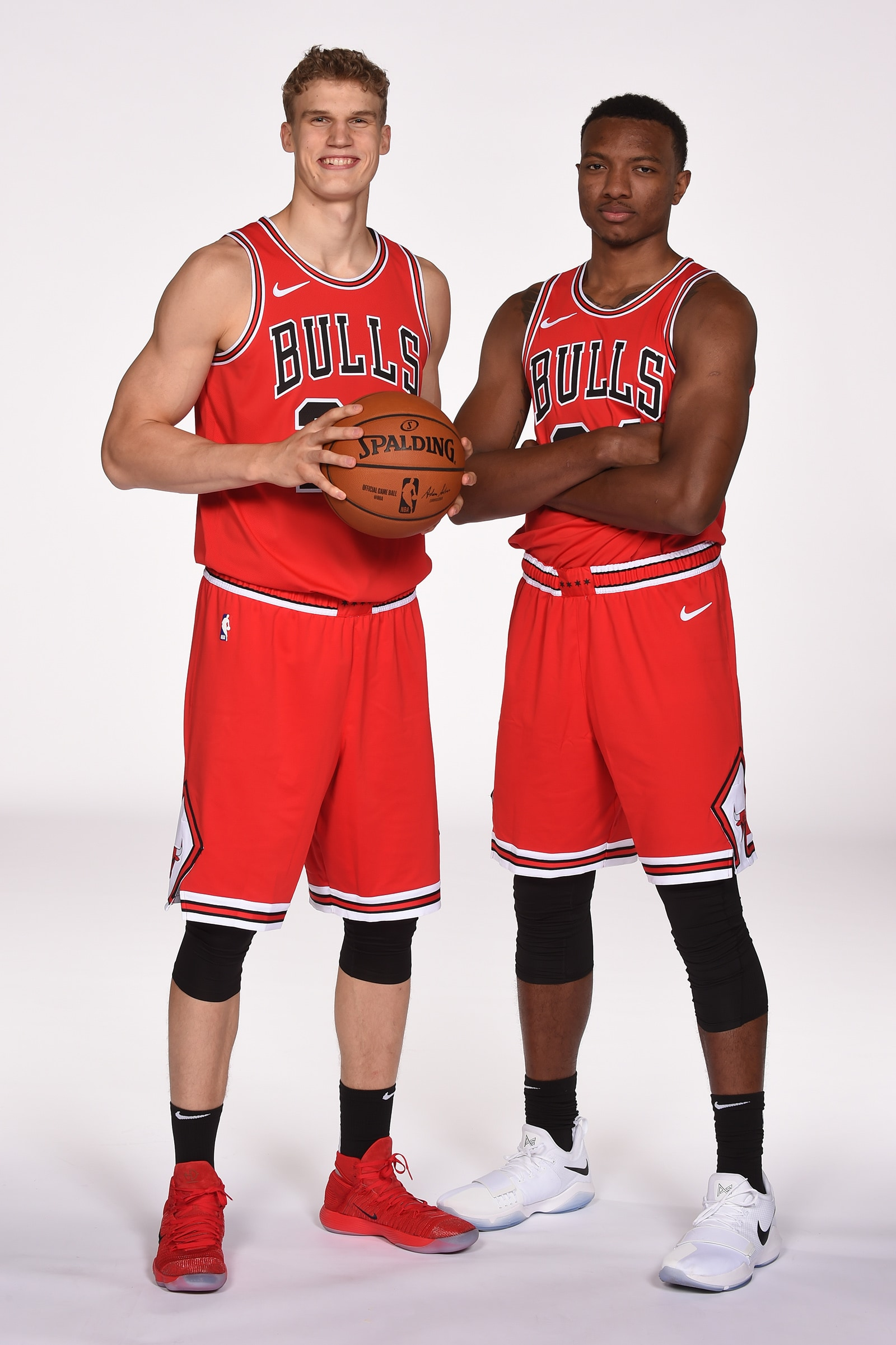 Wendell Carter Jr and Lauri Markkanen on Bulls Media Day