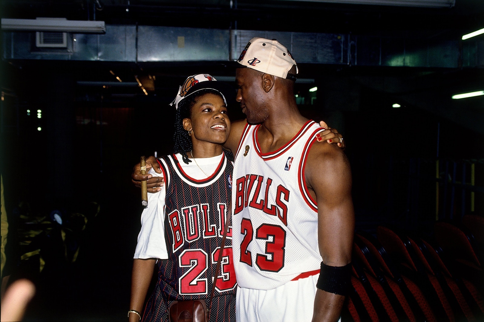Michael Jordan and Sheryl Swoopes