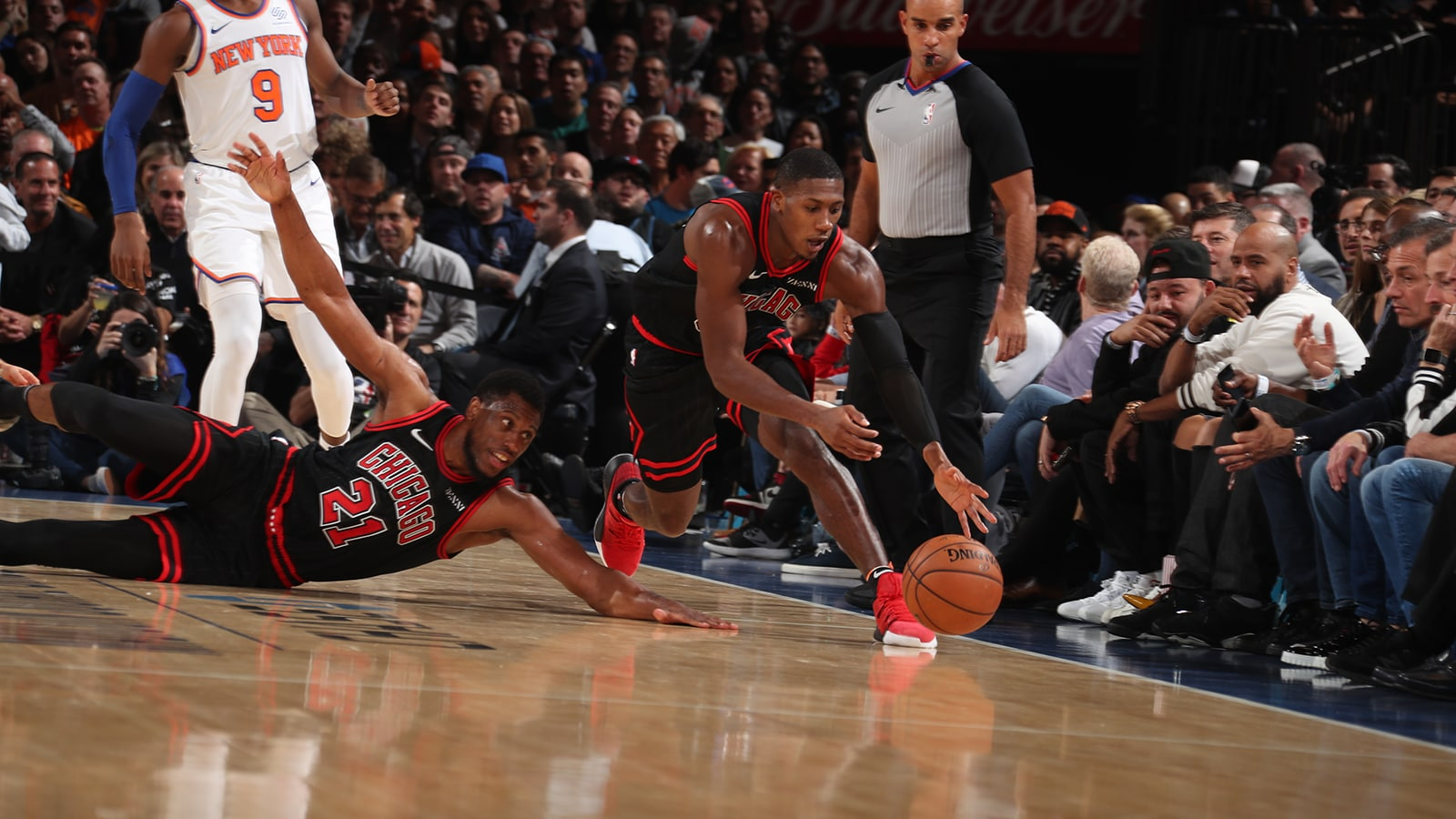 Kris Dunn going in after a loose ball