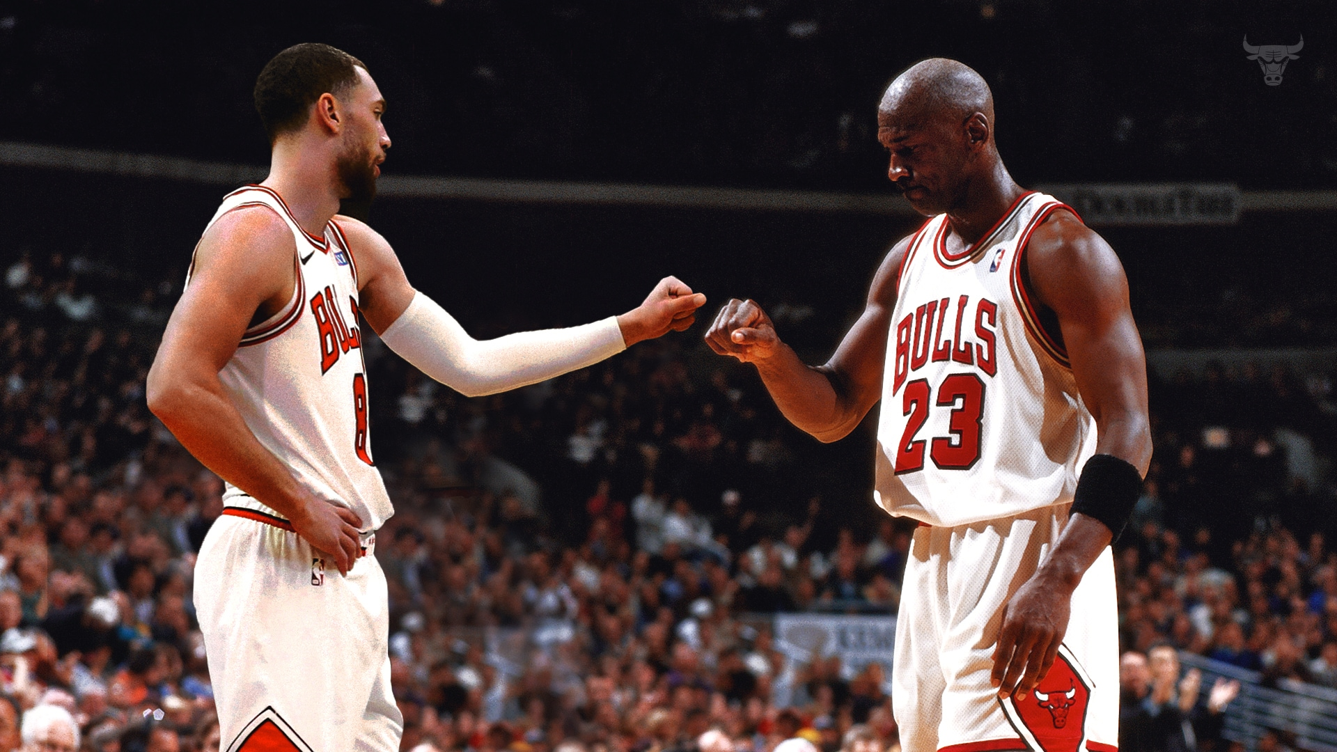 Zach Fist Bumping MJ