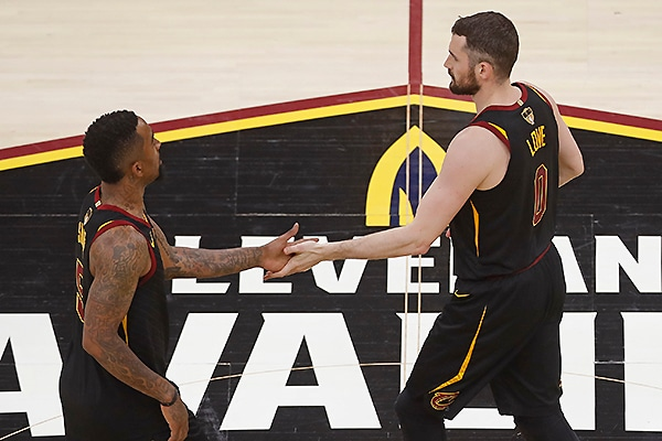 Kevin Love and JR Smith