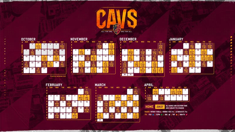 photo about Cavs Schedule Printable named Wallpapers Cleveland Cavaliers