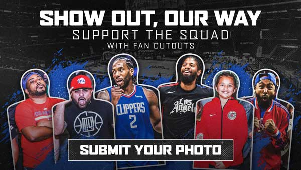 Show out, out way. Support the squad with fan cutouts. Submit your photo