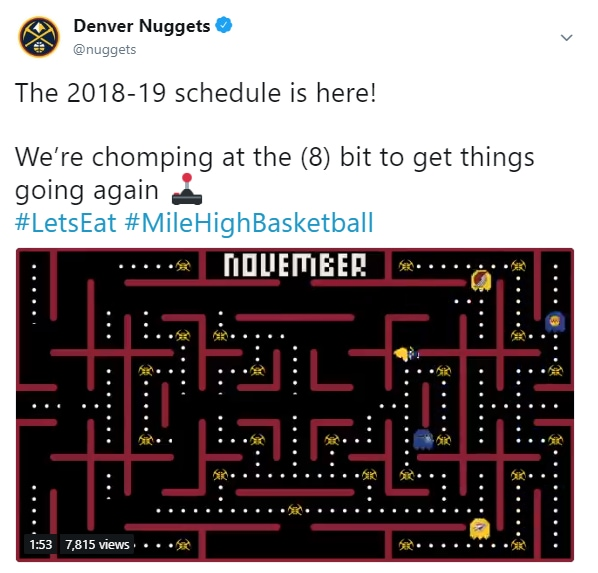 Denver Nuggets Schedule: Nuggets Get Creative With Schedule Release