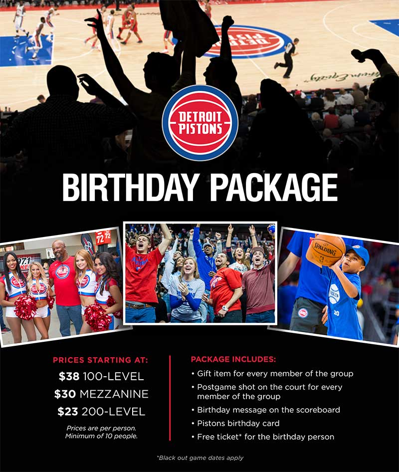 Celebrate Your Birthday With The Pistons