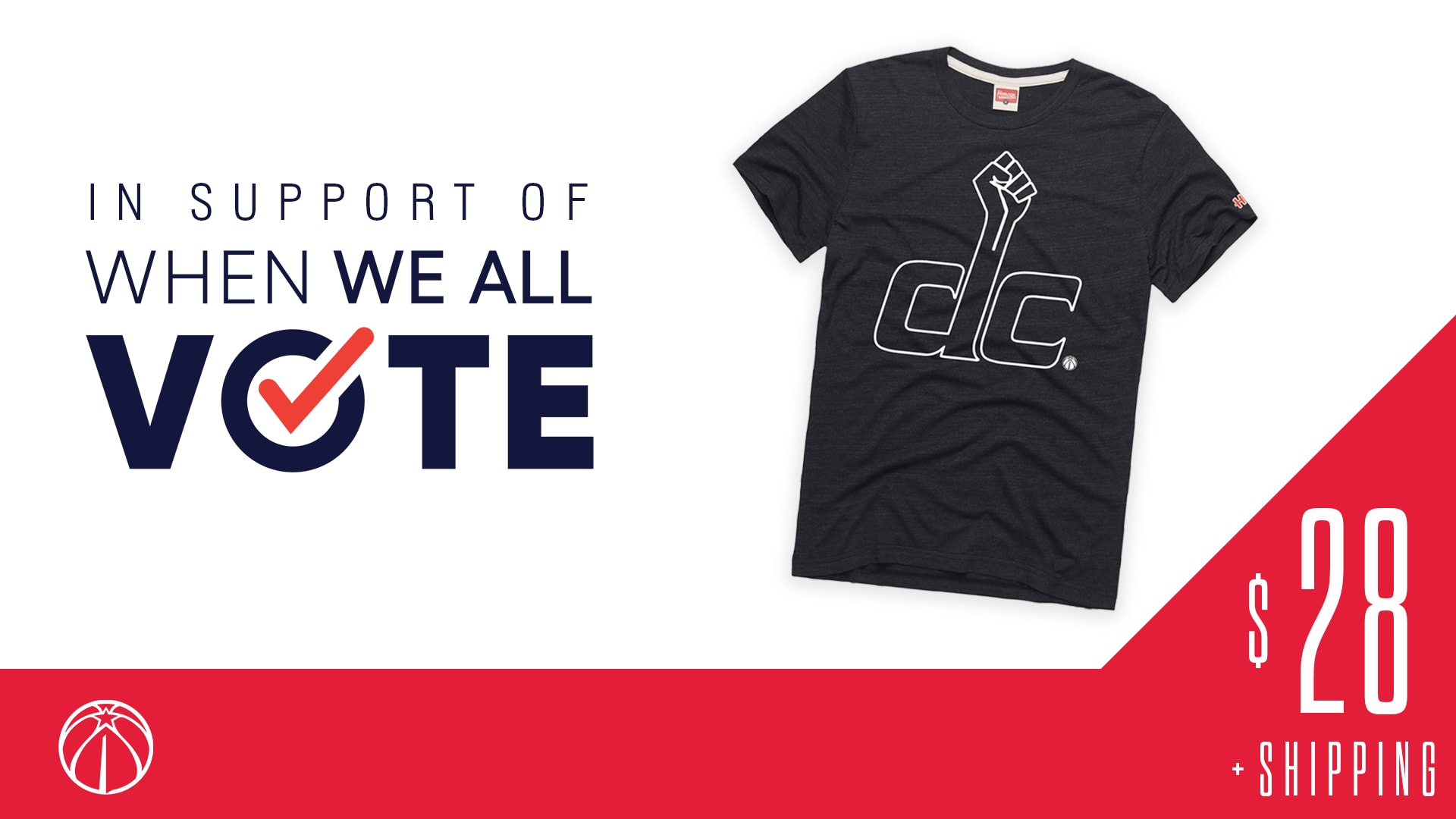Wizards support When We All Vote