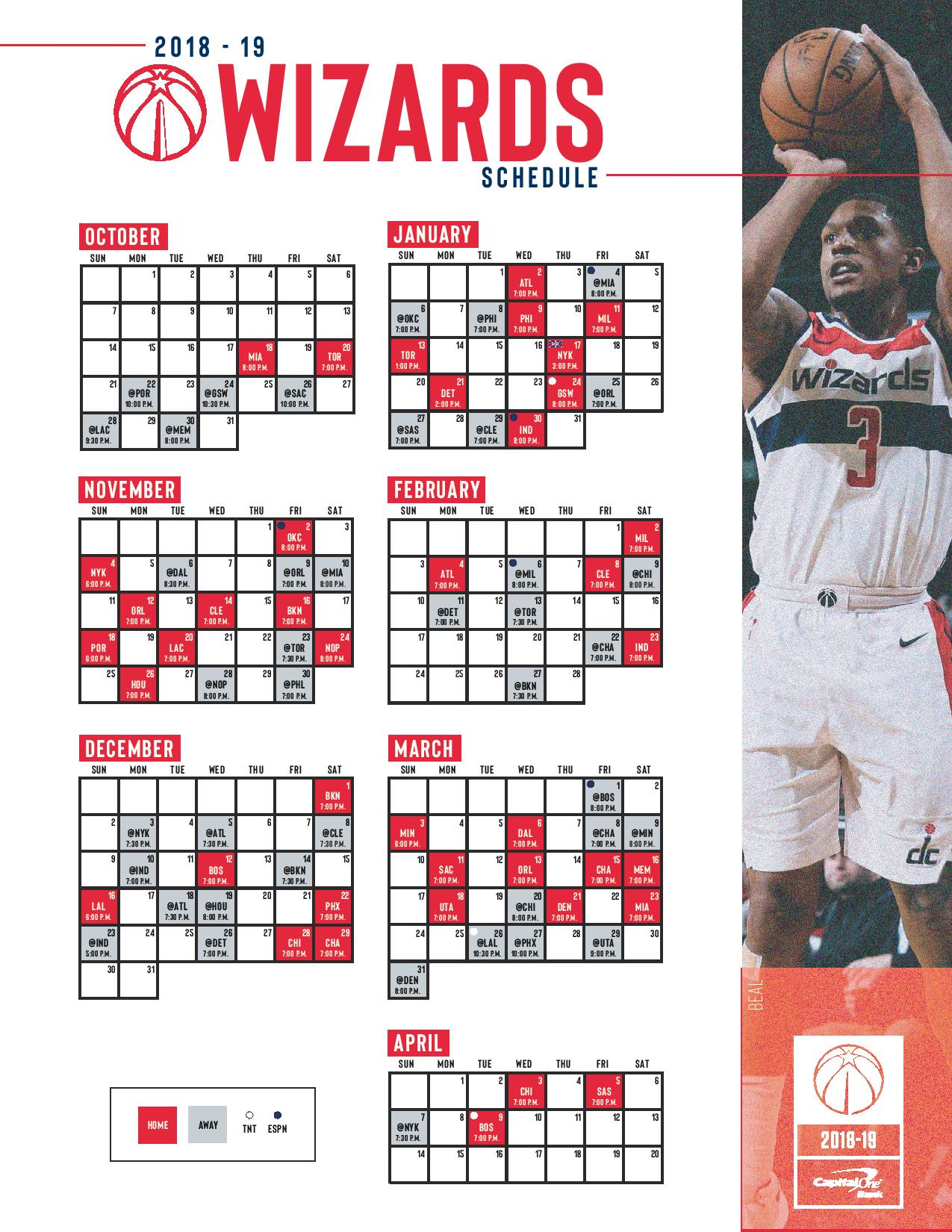 Washington Wizards Schedule